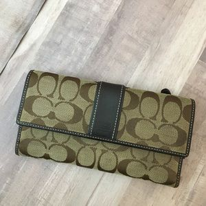Coach Full Size Logo Sign Wallet